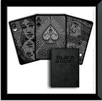 The Black Book of Cards- A Typographic Deck Design by TheUnCommonBeat