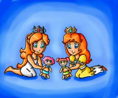 daisy and rosalina children by ninpeachlover