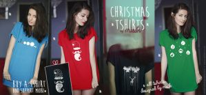 Christmas T-shirt by Miobi by miobi