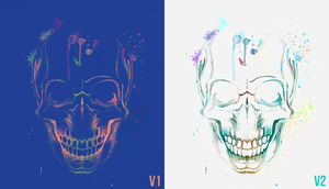 Skull watercolor by Nablo92