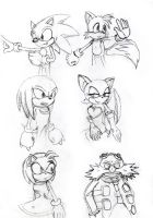 Sonic Characters- Test by ArtEasts