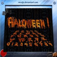 3D Haloween ABC + 123 png by M10tje