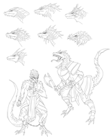 Saurian race reference by FireEagleSpirit