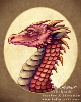 Red Dragon Bust by helloheath