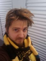 Chris' Hufflepuff Scarf by 16bitmick