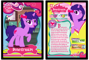 MLPFiM Trading Card Bowdream by Origamigirl1223
