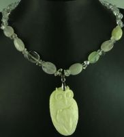 Owl and Wolf  Totem Necklace by SacredJourneyDesigns