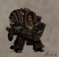 Steampunk Dreadnought - sketch by ikkake