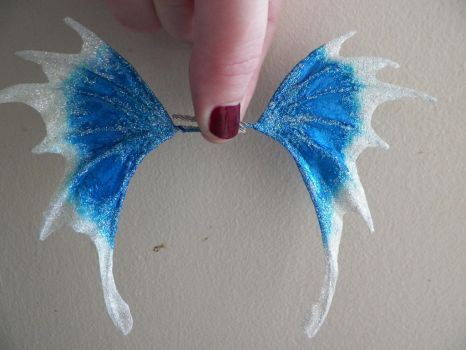 Blue and White Fairy Wings by PreciousMiniatures
