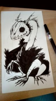 Inktober Day 9  Scarecrow by tikopets