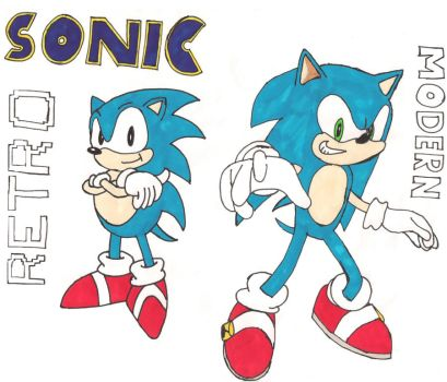 Sonic - Classic vs. Current by supersonicsjm