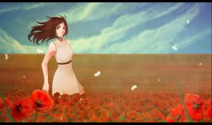 poppy field by Omaryka