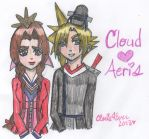 Emperor Cloud and Empress Aeris by cleris4ever