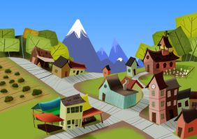 WIP - Children's book: Growing town by caiobuca