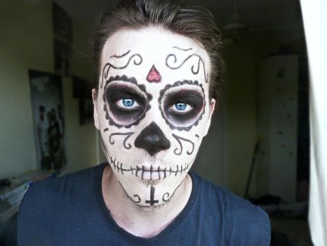 Day of the Dead style make-up by a-zombified-chimera