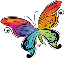 Colorful Butterfly by artbeautifulcloth