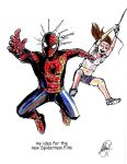 Spiderman and Mary Jane Watson (superpowered) by AtLeastimalive