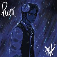 Caught in the rain by Ren-chin