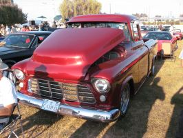55' Red Chev Pickup B by Eagle07