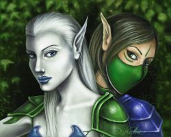 Wintermage and Windarcher by Lumileek