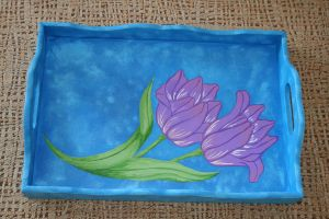 tray painted by me... by snaplilly