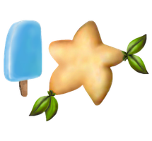 Sea salt ice cream and paopu fruit by The-TraveIing-Itch
