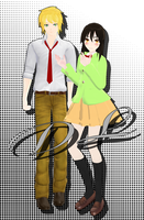 Dl Misaki and Usui [MMD] [DL] by Deiroko