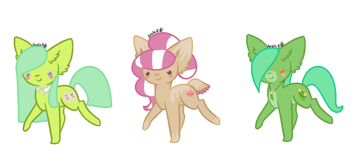 EARTH PONY ADOPTS! [OPEN] by YellowKitten1