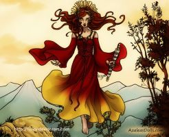 Brigid - Celtic  Goddess of Fire by Fercy