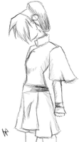 Toph sketch by Insanity-wolf