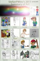 2010 and 2011 Summary of art by StefanPWinc