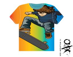 Skater T Shirt FulColor by JCHARLIE