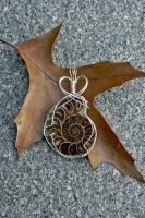 Ammonite Pendant by magpie-poet