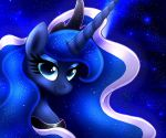 MLP FIM - Princess Luna Night Portret by Joakaha