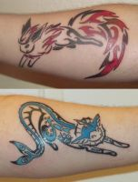 Fire and Water Tattoo by LionHubby