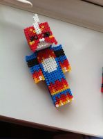 Flamedramon - perler beads by Rest-In-Pixels