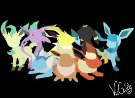 Eevee And The Eveelutions by VicGurg