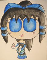 Stuffed Gothic Lynsi Chibi (watercolor version) by AnomalousAntarctican