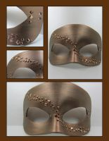 Bronze geometric mask by maskedzone