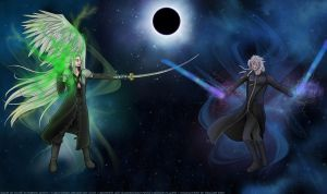 Sephiroth and Xemnas by hyacinthess