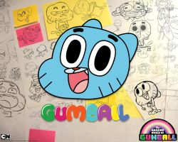 drawing anything on gumball's face by andre00190