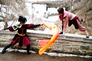 Fire Nation Fight by Evilwarlordgu