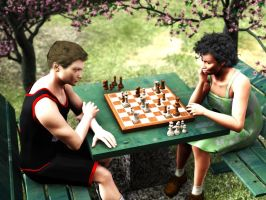 Chess in the Park by Kethaera