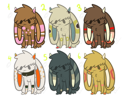 Little Jackalope Point Adopt Set 2 +CLOSED+ by Contract-Bound