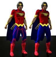 Wonder W Man bundle textures for new 52 suit by hiram67