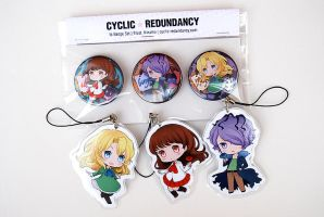 Ib - buttons and straps by Ninamo-chan