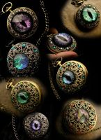 Blue Rose Creations Nov 2014 Pocket Watches by LadyPirotessa