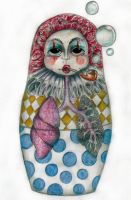 Russian Doll Clown - Coloured by ponychops