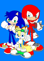 The Three Sons of Team Sonic by SpitFireLex
