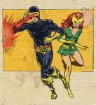 Cyclops and Marvel Girl by TheCosmicBeholder